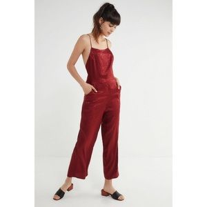 Urban outfitters lily Jacquard leopard jumpsuit